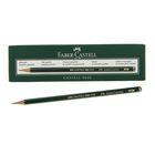 Карандаш художественный чёрнографитный Faber-Castel CASTELL® 9000 проф. 2H зелёный 119012