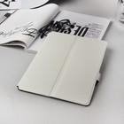 Чехол-книжка для планшета, крепление резинки, цвет белый