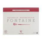 Альбом для акварели хлопок холодное прессование А2 420*560 мм Clairefontaine Fontaine 25 листов 300 г/м2 склейка,фин 96417С