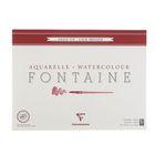 Альбом для акварели хлопок холодное прессование В3 360*480 мм Clairefontaine Fontaine 25 листов 300 г/м2 склейка,фин 96416С