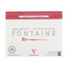 Альбом для акварели хлопок холодное прессование В4 240*300 мм Clairefontaine Fontaine 25 листов 300 г/м2 склейка,фин 96414С