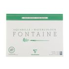 Альбом для акварели хлопок грубая техника А3 300*400 мм Clairefontaine Fontaine 25 листов 300 г/м2 склейка Торшон 96430С