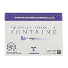 Альбом для акварели хлопок горячее прессование В5 180*240 мм Clairefontaine Fontaine 25 листов 300 г/м2 склейка Сатин 96405С