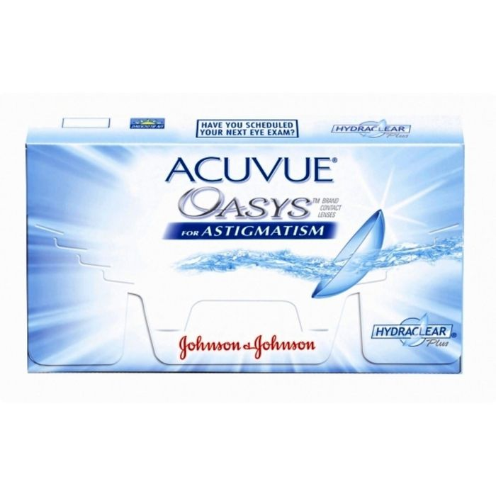 Контактные линзы Acuvue Oasys for Astigmatism, +2.25/8,6/-2.25/80, в наборе 6шт