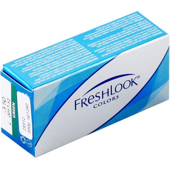 Цветные контактные линзы FreshLook Colors Sapphire Blue, диопт. -0,5, в наборе 2шт