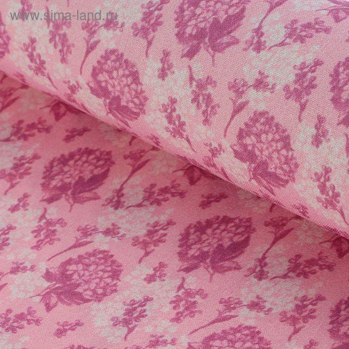 """Ткань для пэчворка """"Винтажные гортензии"""", 48х50см, 120г/кв.м, №3, цвет бордово-розовый"""
