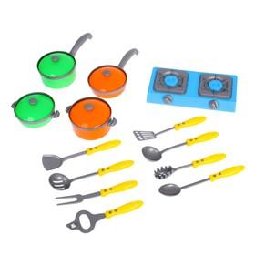 Набор посуды 'Кухонные принадлежности' с плитой, 13 предметов Ош