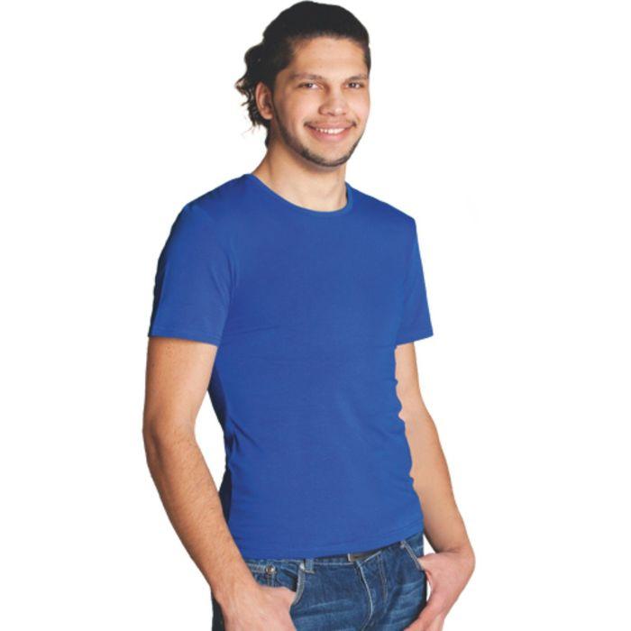 Футболка мужская StanSlim, размер 52, цвет синий 180 г/м 37