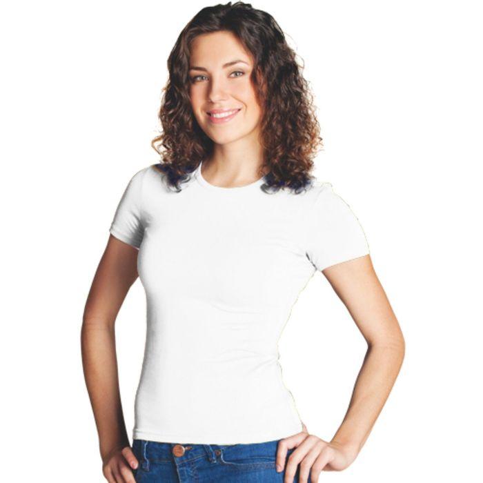 Футболка женская StanSlim, размер 44, цвет белый 180 г/м 37W