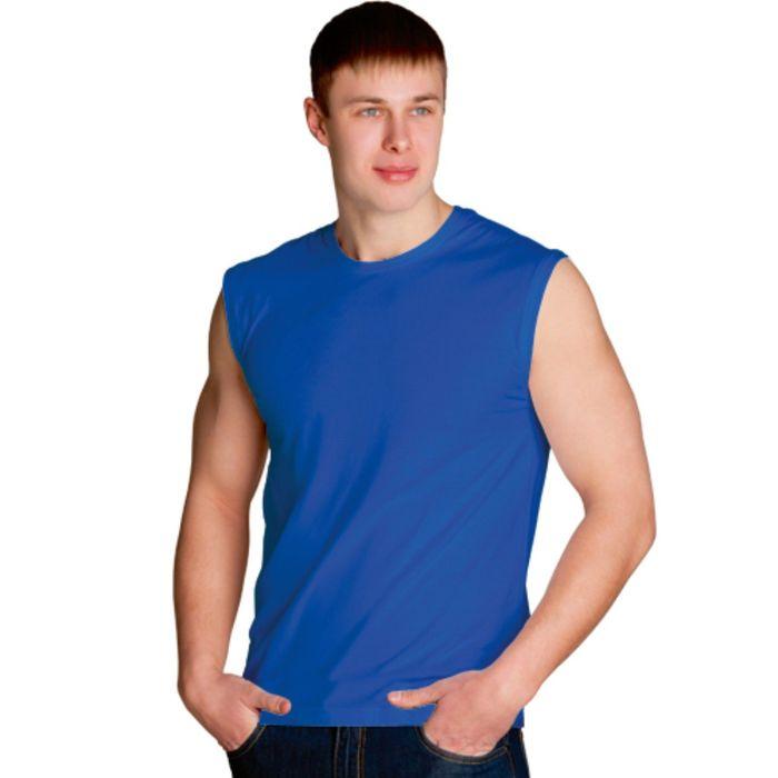 Майка мужская StanSummer, размер 46, цвет синий 145 г/м 41