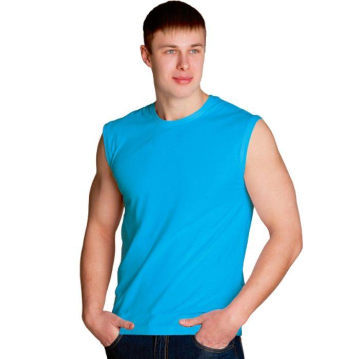 Майка мужская StanSummer, размер 54, цвет бирюзовый 145 г/м 41
