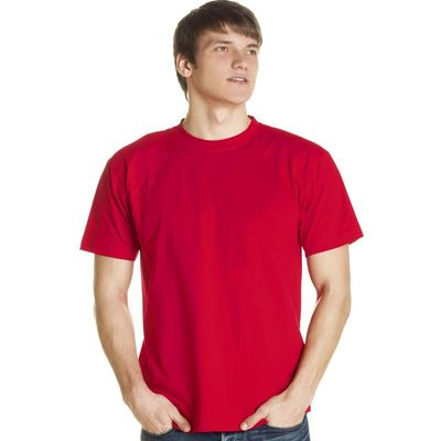 Футболка мужская StanLux, размер 54, цвет красный 180 г/м 08