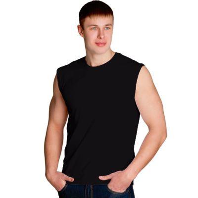 Майка мужская StanSummer, размер 48, цвет чёрный 145 г/м 41