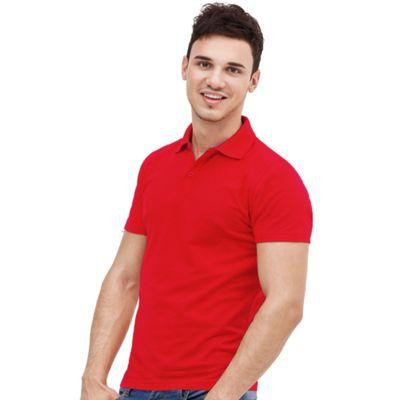 Рубашка-поло мужская StanUniform, размер 54, цвет красный 185 г/м 04U