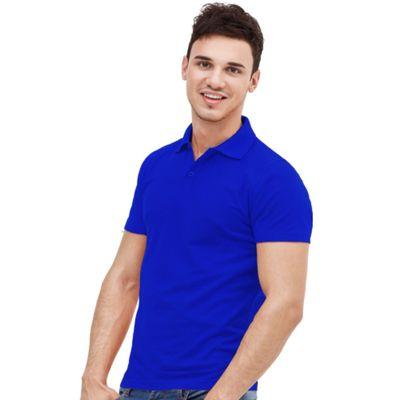 Рубашка-поло мужская StanUniform, размер 48, цвет синий 185 г/м 04U