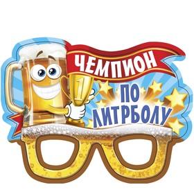 """Очки карнавальные """"Чемпион по литроболу"""""""