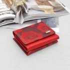 Кожелек жен 11-01-04 49972 НАИС, 11*3*9,7, отд д/мелочи, красный/розы
