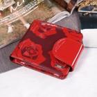 Кожелек жен 11-01-04 49973, 11*3*9,7, отд д/мелочи, красный/розы