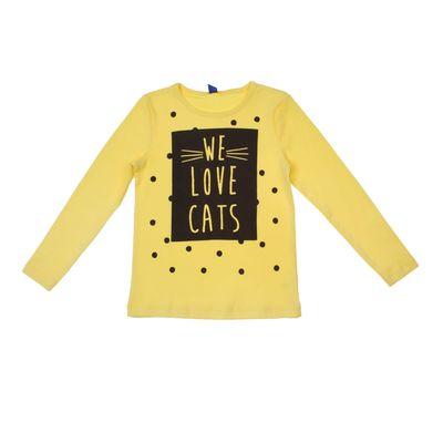 """Джемпер для девочки """"Мой котик"""", рост 98 (26) см, цвет лимонный Р818846_М"""
