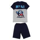 Костюм для мальчика (джемпер+шорты), рост 98-104 см, цвет тёмно-синий Р608699