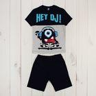 Костюм для мальчика (джемпер+шорты), рост 98 см, цвет тёмно-синий Р608699_М