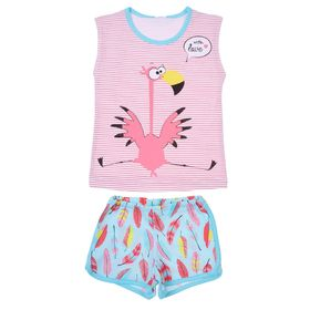 """Пижама для девочки """"Пеликашка"""", рост 86-92 (26) см, цвет розовый Р208677_М"""