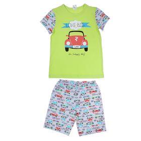 """Пижама для мальчика """"Ретро BIG"""", рост 122-128 (32) см, цвет лимонный пунш Р208580"""