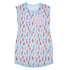 """Сорочка для девочки """"Пестрые перышки"""", рост 152 (40) см, цвет голубой Р308681"""