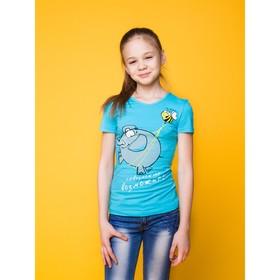 """Футболка для девочки """"Возможно!"""", рост 146 (38) см, цвет голубой Р108654"""