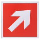 Табличка Стрелки диагональ 100*100 мм, клеящаяся основа