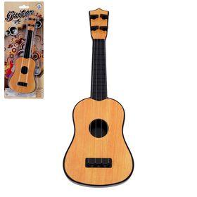 """Игрушка музыкальная гитара маленькая """"Классика"""", светло-коричневая"""