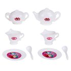 """Набор посуды для игры белый """"Чайный на 2 персоны"""", 8 предметов, + книжка с рецептами, Принцессы"""