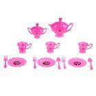 """Набор посуды для игры розовый """"На 3 персоны"""", 14 предметов, + книжка с рецептами, Принцессы"""