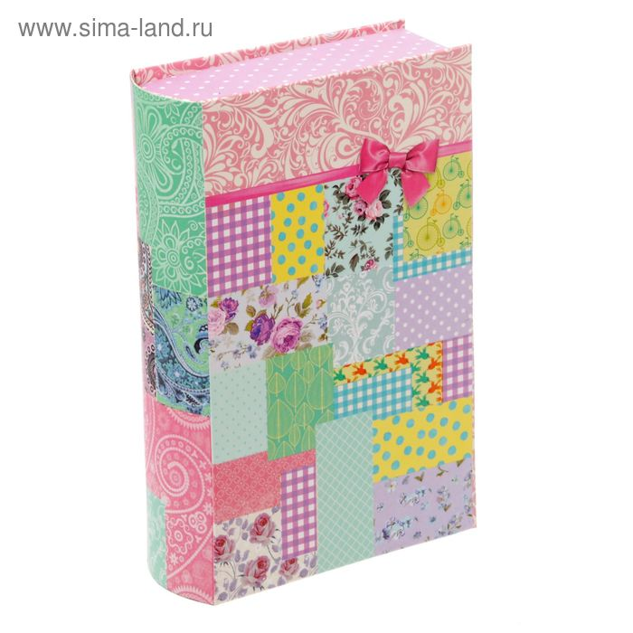 "Коробка-книга подарочная ""Пэчворк"", 11 х18 см"