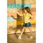Рубашка для девочки, рост 98-104 см, цвет желтый, GWCJ3017/1