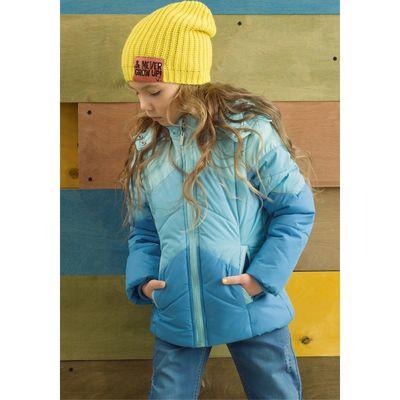 Куртка для девочек, рост 98 см, цвет бирюзовый