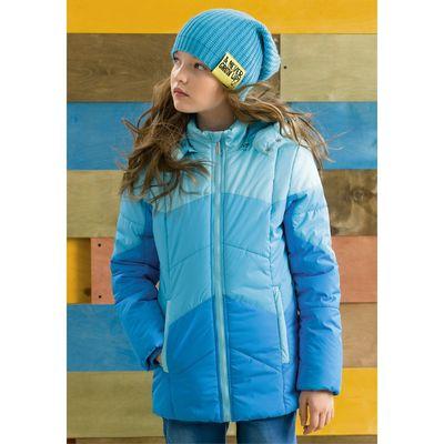 Куртка для девочек, рост 128 см, цвет бирюзовый