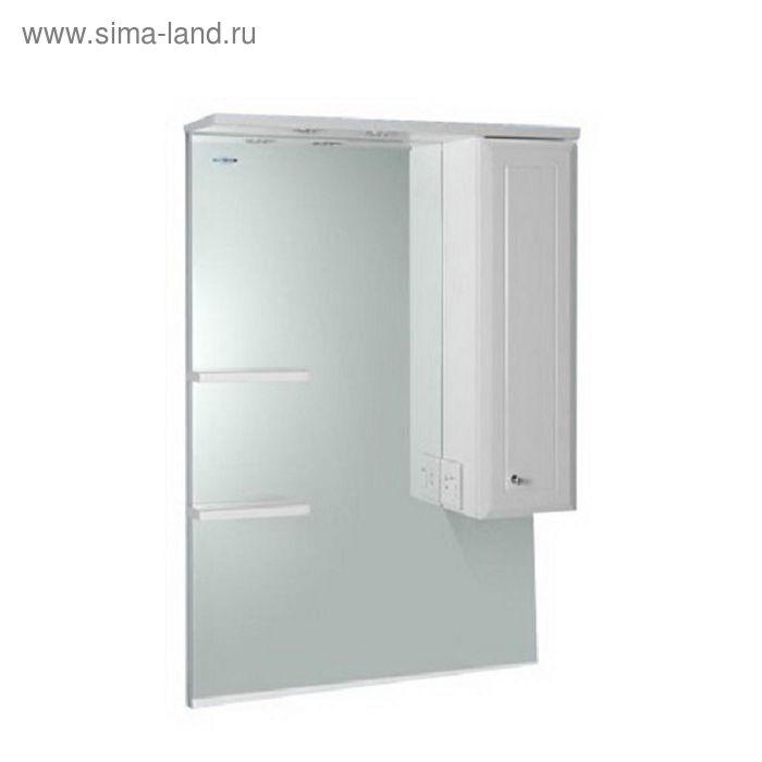 """Шкаф зеркальный AQUALIFE DESIGN """"Осло 70"""", белый, правый"""