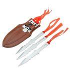 Набор ножей Fire в чехле, 3 шт., рукоять с вырезами