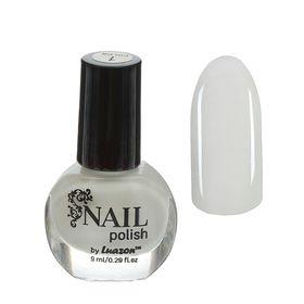 Лак для ногтей, 9мл, цвет 01-001 белый