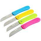 Нож перочинный Bright, лезвие — козья ножка с отверстиями, 7 см, рукоять с полосой, 17,5 см, микс