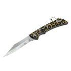 Нож перочинный лезвие clip-point 7,5см, рукоять Леопард 17см