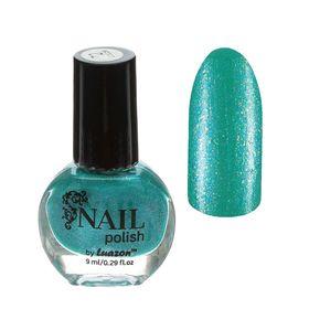 Лак для ногтей с блёстками, 9мл, цвет 072-207 небесно-голубой