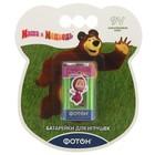 """Батарейка Элемент питания Фотон 6LR61 ВP1 ,""""Маша и медведь"""" + наклейка, 1 шт"""