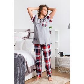 Комплект женский (футболка, брюки) ТК-283 МИКС, р-р 46