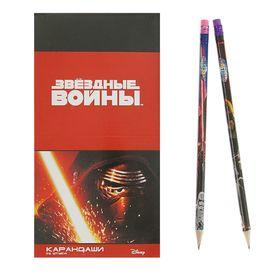 Карандаш чернографитный дизайн Звездные войны, с ластиком 87455