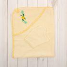 Полотенце-уголок, размер 80х102 см, цвет бежевый К23