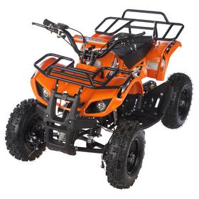 Квадроцикл детский бензиновый MOTAX ATV Х-16 Мини-Гризли, оранжевый, электростартер и родительский пульт Ош