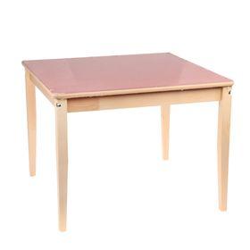 Стол детский №3 (Н=520) (795х795), малиновый Ош