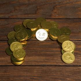 """Монеты в банке """"Смайлик"""" 6г, 50шт"""